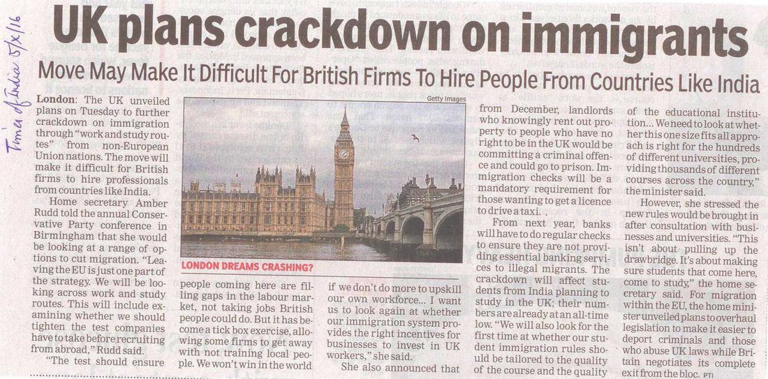 UK curbs on Immigration