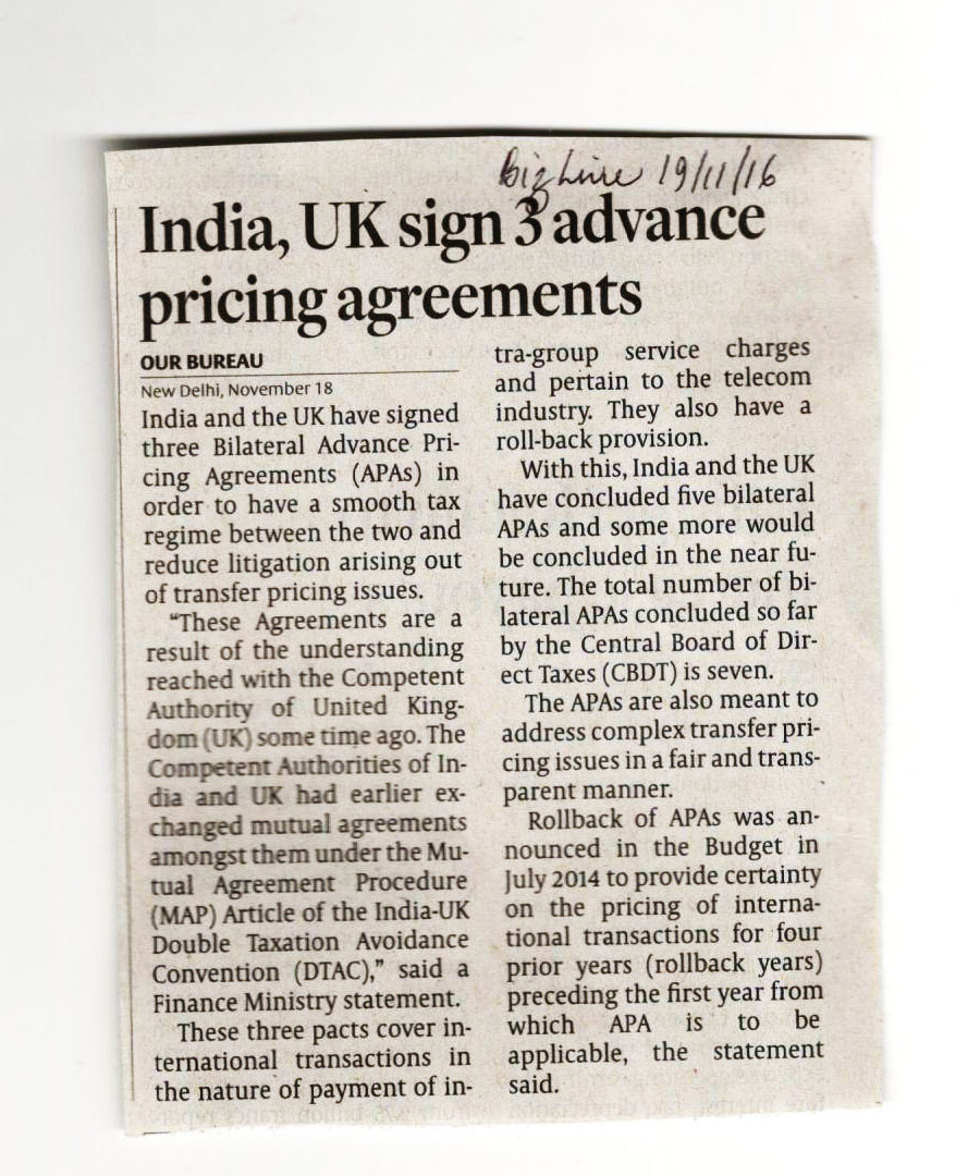 India,UK sign 3 Pricing Agreement