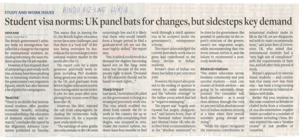 Student Visa norms UK panel bats for changes, but sidesteps
